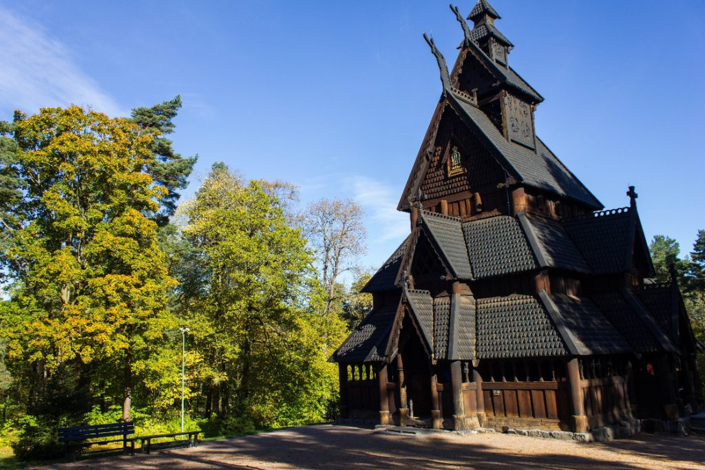 A replica of Stave Church